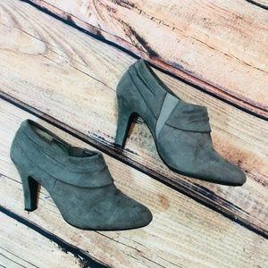 Karen Scott Gray slip on heels Booties